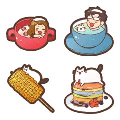 Type heart face, or 9829, or u+1f60d, or paste emoji 😂. MixFlavor's food emoji: Autumn – LINE Emoji | LINE STORE
