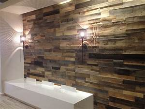 wood pallet wall for hotter home interior decor With what kind of paint to use on kitchen cabinets for reclaimed wood wall art for sale