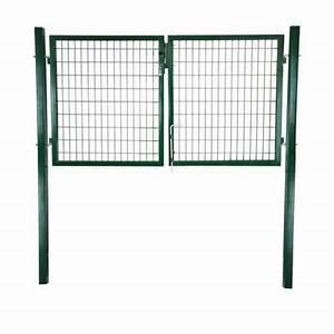 Spiegel 2m X 2m : portillon double grillage sceller vert h 1 m castorama ~ Bigdaddyawards.com Haus und Dekorationen