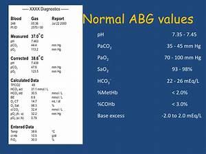 Interpretation Of The Arterial Blood Gas Analysis