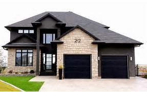 Modern Black House Bright Accents Black2 Craftsman Versus Ranch Remodel Decisions