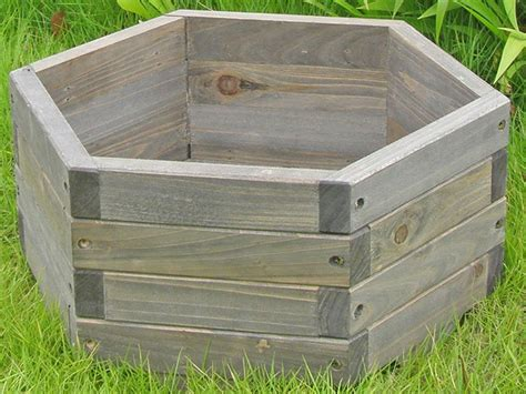 how to make planters how to make a hexagonal wooden planter ebay