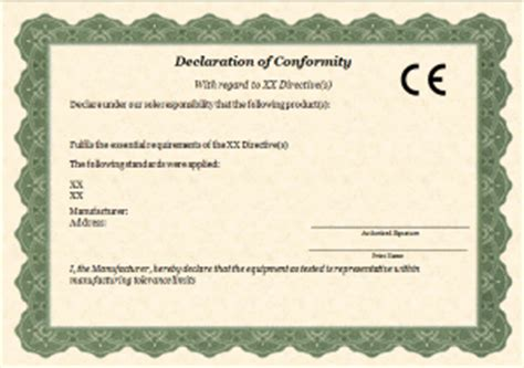 ce self certification template ce mark guide for electronic hardware products emc fastpass
