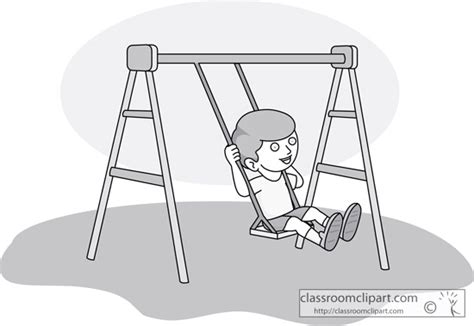 swing clipart black and white playground swing set clipart clipart suggest