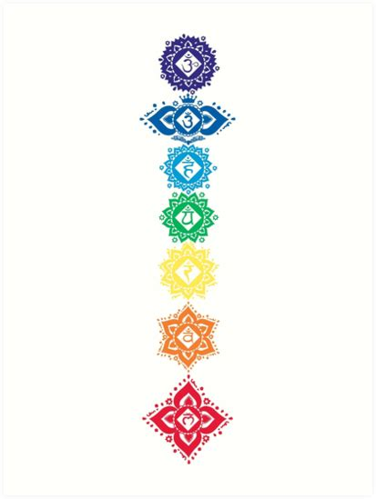 quot floral seven 7 chakra symbols for quot prints by buy cool shirts redbubble