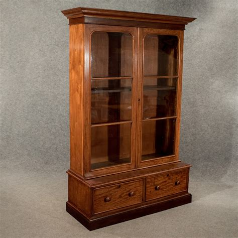 Display Bookcase by Antique Large Display Bookcase Cabinet Mahogany