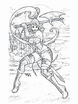 Coloring Pages Adult Fantasy Printable Deviantart Pant Adults Zenescope Gft Wonderlan Erotic Getcolorings Warrior Books Warriors Colouring Sheets Fairy Archer sketch template