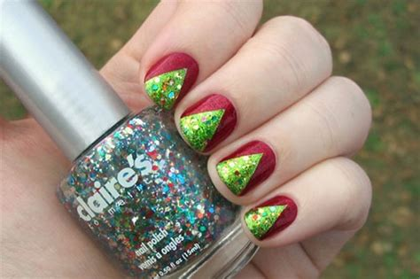 Easy Christmas Tree Nail Art Designs & Ideas 2013/ 2014