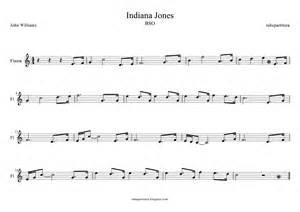 tubescore: Indiana Jones Flute Sheet Music Soundtrack
