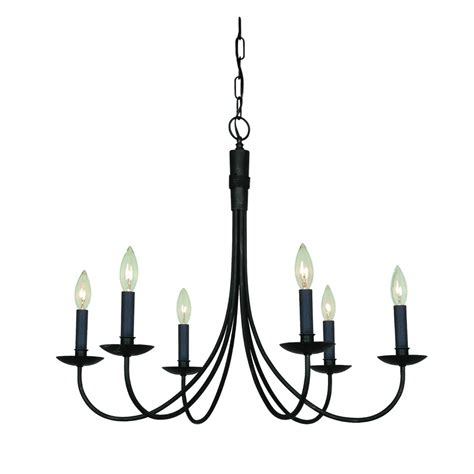Black Wrought Iron And Chandelier by Artcraft Lighting Wrought Iron Ac1786eb Chandelier