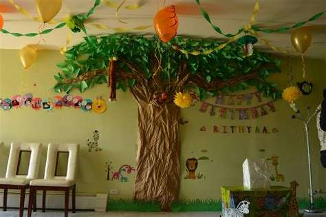 jungle theme birthday decoration ideas passionate moms