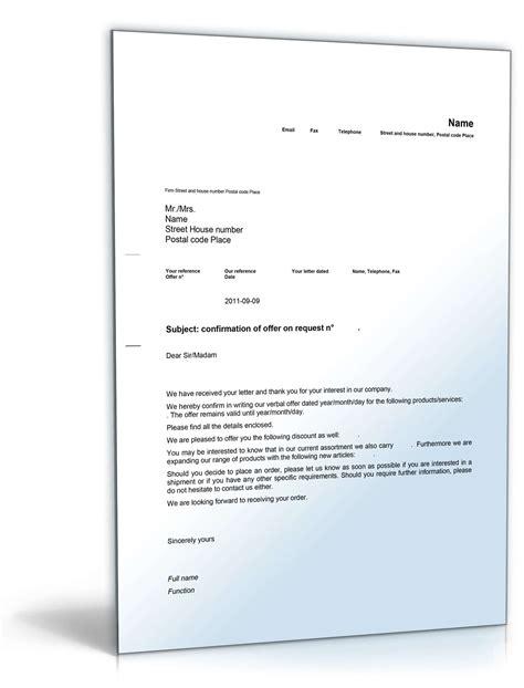 geschaeftsbrief angebot auf anfrage englisch muster zum