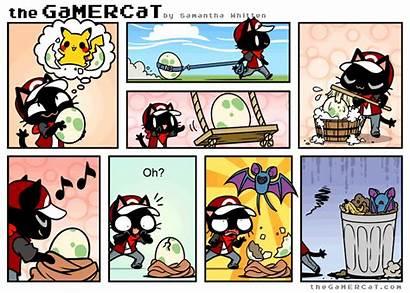 Pokemon Gamercat Cat Comics Gamer Comic Hopes