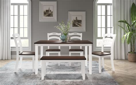 Napoli beechwood legs a stunning and stylish set for any dining room available at an affordable prices dimension: 6 Piece Dining Table Set, Modern Home Dining Set with ...