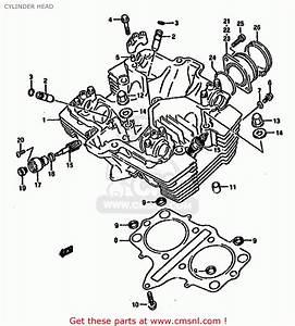 Suzuki Gs500 1992  En  Cylinder Head