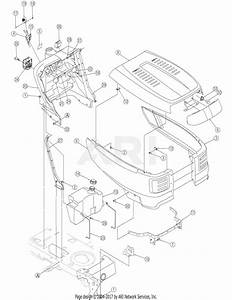 Troy Bilt 13ax60tg766 Super Bronco  2006  Parts Diagram For Hood And Side Panel