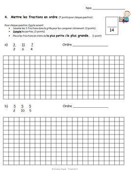 french immersion fraction worksheets grade 3 4 5 by