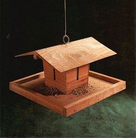 bird feeder free woodworking project plans