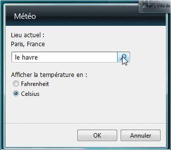 afficher meteo sur bureau windows 7 afficher la météo sur le bureau windows vista
