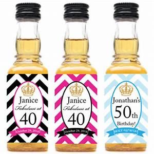 royalty chevron personalized mini liquor bottle labels With custom mini liquor bottle labels