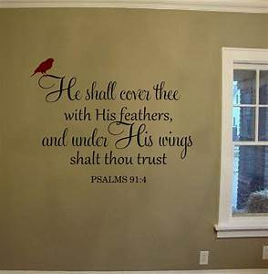 he shall cover thee with his feathers wall decal vinyl With vinyl lettering scripture