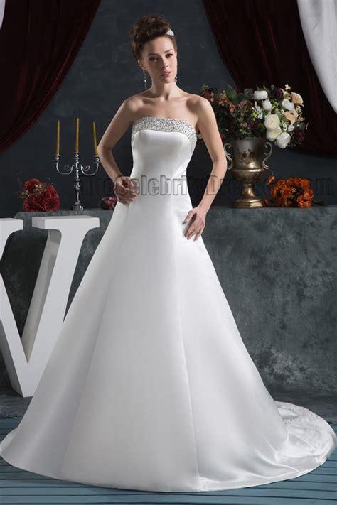 elegant strapless   beaded lace  wedding dresses