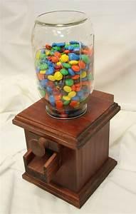 Handmade Wooden Candy Dispenser - Snack for M&M's