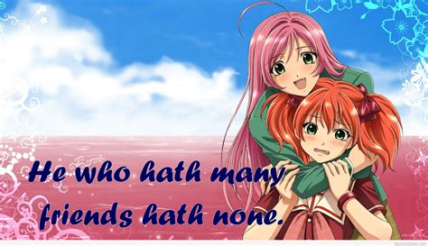 Anime Friends Wallpaper - anime friend quotes quotesgram