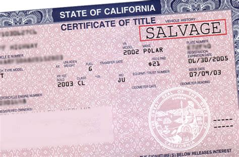 What Does Branded Title by Salvage Certificate S S Auto Registration Services