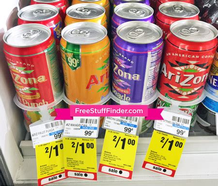 reg  arizona drinks  cvs  coupon needed