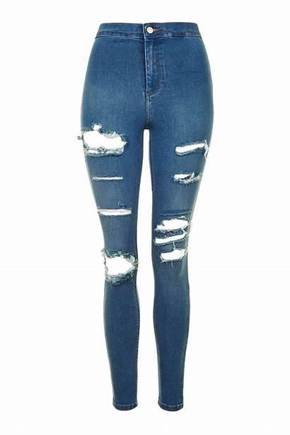 Jeans Joni Rip Moto Ripped Skinny Topshop