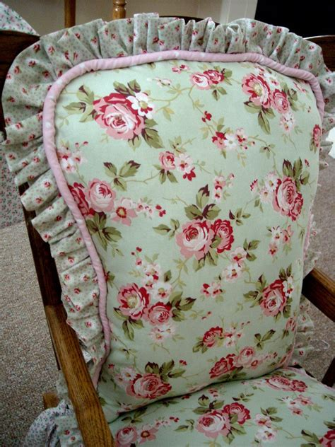 shabby chic chair pads how to make seat covers ehow party invitations ideas