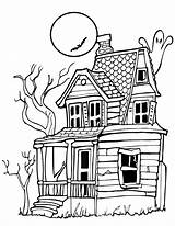 Halloween Coloring Haunted Printables Pages Ghost Printactivities Printable Sheets Spooky Colour Mansion Drawings Para Dibujos Colouring Casa Desenhos Scary Draw sketch template