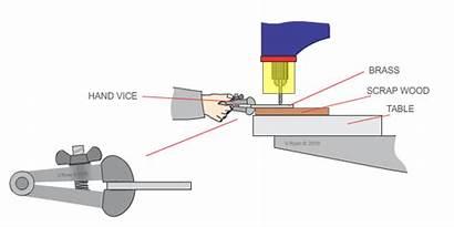 Vice Technologystudent Sheet Metal Scrap Drilling