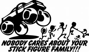 Anti-Stick Figure Family Decal Sticker Funny Bumper Sticker