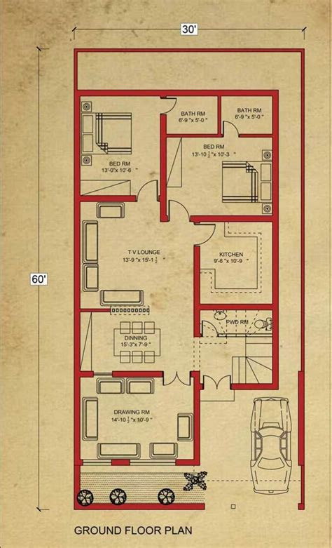 house floor plan  marla house plan  bahria town lahore