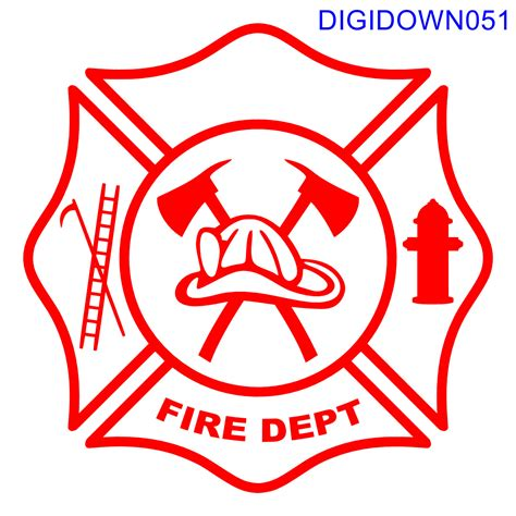 We offer svg files for cricut, silhouette cameo and other vinyl cutting machines for all your crafting projects. Maltese Cross Fire Dept Logo w/Hook, Ladder, Hydrant, Hat ...