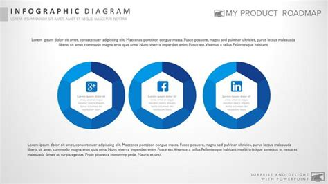 three stage modern powerpoint strategy infographic