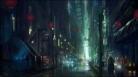 Anime City Scenery Wallpaper - anime futuristic city scenery wallpaper anime city