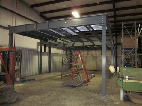 Overview of the prefabricated mezzanine installation   A