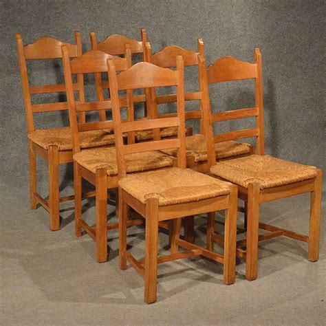 country kitchen chair antiques atlas oak chairs set 6 kitchen dining country 2753