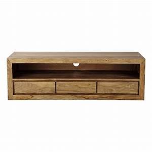 Meuble Tv Maison Du Monde : meuble tv en bois de sheesham massif l 160 cm stockholm maisons du monde ~ Teatrodelosmanantiales.com Idées de Décoration