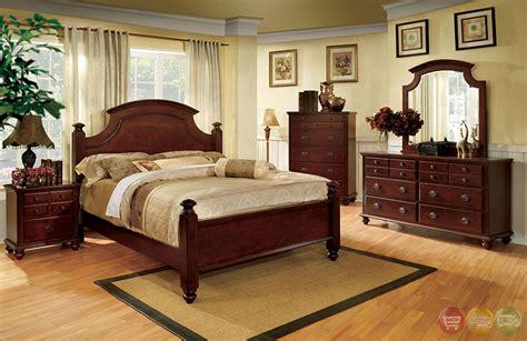 gabrielle ii elegant european cherry bedroom set