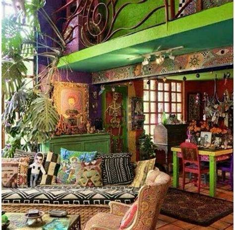 images  bohemian cottage  pinterest hippie style bohemian decor  gypsy caravan