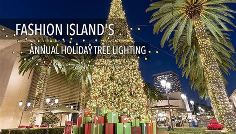 fashion island s annual tree lighting visit