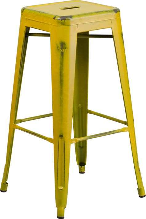 yellow table l base butter yellow weathered tolix bar stool tablebasedepot