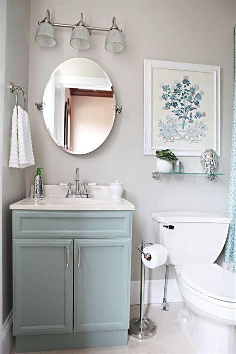 light blue vanity light gray walls and for