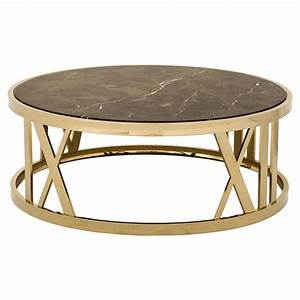 eichholtz baccarat hollywood regency brown marble gold With round marble and gold coffee table