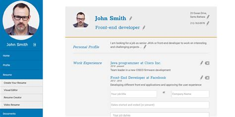 Visual Resume Creator by Cv Bank Php Resumes Database Script Cv Search Softare