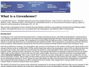 What Is A Greenhouse  Lesson Plan For 5th